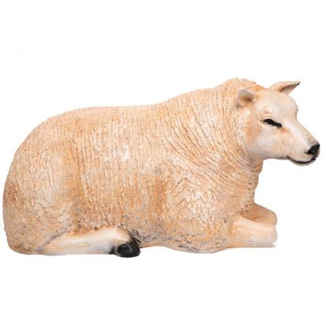 Statue en résine MOUTON laineux couché - 100 cm