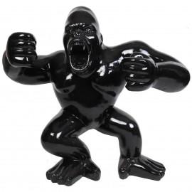 Statue en résine Donkey Kong gorille singe debout noir William - 120 cm