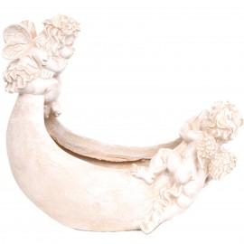 Jardinière en résine au deux anges -32 cm