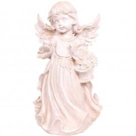 Statue en résine ange au panier de fruits 40  cm