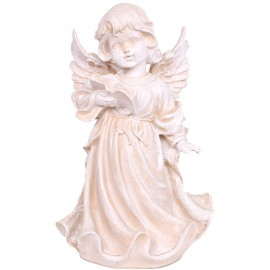 Statue en résine ange a la lecture 31 cm