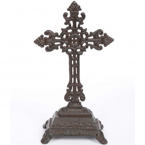 Croix en fonte ajourée a poser 25 cm