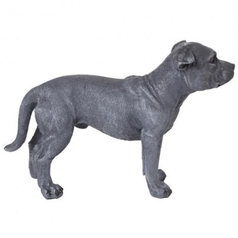 Statue CHIEN pitbull gris - 50 cm