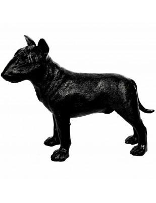 Statue en résine bull terrier noir 32 cm