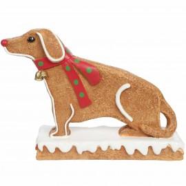 Statue en résine chien teckel façon pain d'épice 53 cm