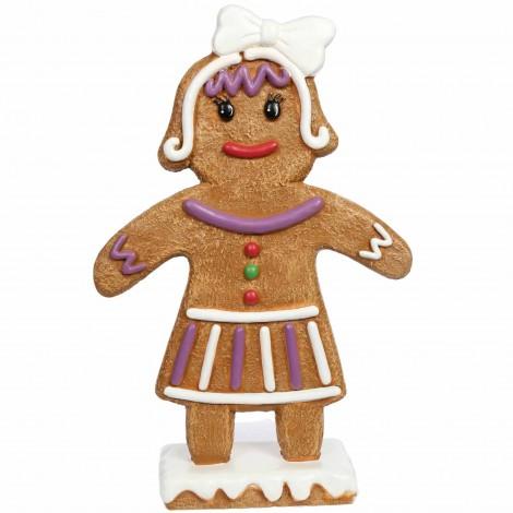 Statue en résine façon pain d'épice maman 90 cm