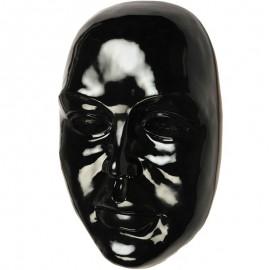 Statue visage de femme murale 3D noir - 41 cm