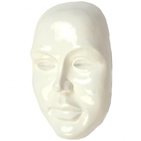Statue visage de femme murale 3D blanc - 41 cm