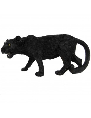 Statue panthère noire en résine 78 cm