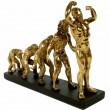 Statue en résine Human Evolution de l'homme longueur -33 cm