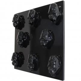 Tableau noir en résine huit têtes de donkey kong gorille singe agressif - 80 cm