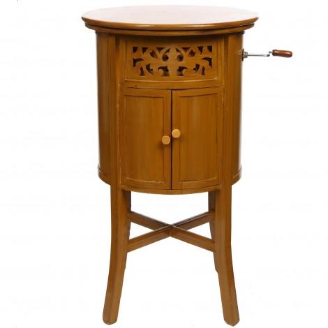 Meuble phonographe rond a couvercle 150 cm
