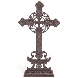 Croix en fonte ajourée a poser - 38 cm