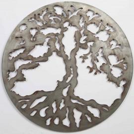 Tableau panneau arbre de vie en fer diamètre 100 cm
