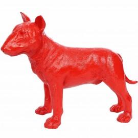 Statue en résine Bull terrier rouge 32 cm