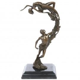 Statue en bronze couple homme et femme 35 cm