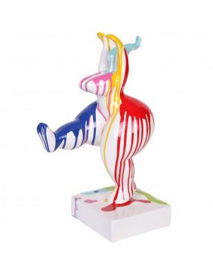 Statue femme design moderne en résine multicolore  - Lucie - 48 cm