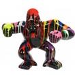 Statue en résine Donkey Kong gorille singe debout multicolore fond noir 57 cm