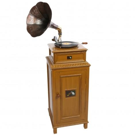 Meuble phonographe avec pavillon 140 cm