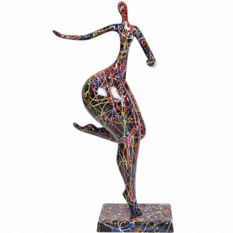 Statue femme design moderne en résine multicolore Sophia - 78 cm