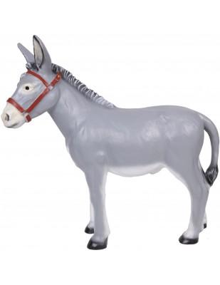 Statue âne gris en résine 100 cm