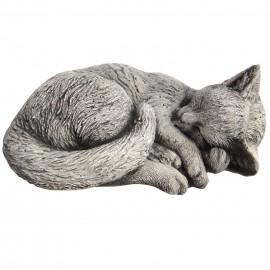 Statue en béton chat qui dort 27 cm