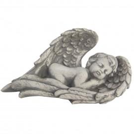 Statue en béton ange endormi 29 cm