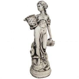 Statue en béton femme au paniers 70 cm