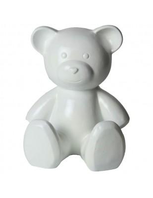 Statue Ours blanc en résine - 35 cm