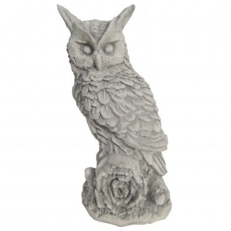 Statue en béton hiboux debout 28 cm