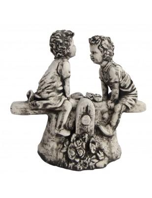 Statue en béton enfants a la balançoire 40 cm