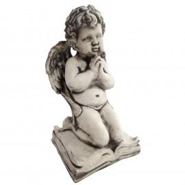 Statue en béton a genoux sur un livre 32 cm