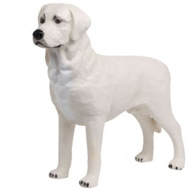 Statue CHIEN labrador beige - 90 cm