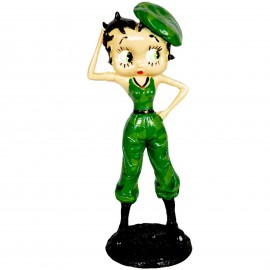 Statue en résine 31 cm Betty boop militaire