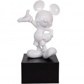 Statue en résine Mickey de couleur blanche 80 cm