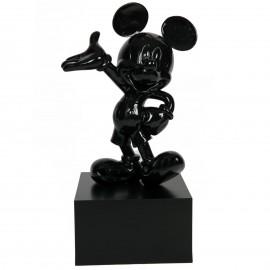 Statue en résine Mickey de couleur noire 80 cm