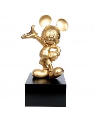 Statue en résine Mickey de couleur dorée 80 cm