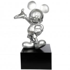 Statue en résine Mickey de couleur argentée 80 cm