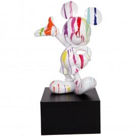 Statue en résine Mickey multicolore fond blanc 80 cm