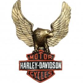 Statue aigle panneau en relief style Harley Davidson en résine 65 cm