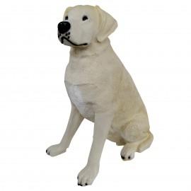 Statue CHIEN labrador ASSIS beige - 90 cm