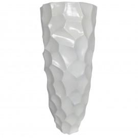 Cache pot jardinière design en résine de couleur blanc 87 cm