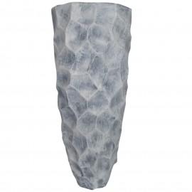 Cache pot jardinière design en résine de couleur béton 87 cm