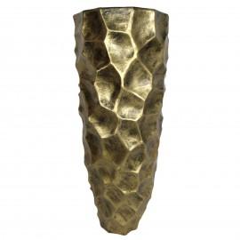 Cache pot jardinière design en résine de couleur doré antique 87 cm