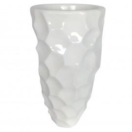 Cache pot jardinière design en résine de couleur blanc 60 cm