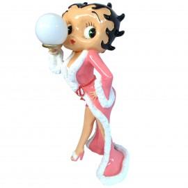 Lampe statue en résine Betty Boop en peignoir 120 cm