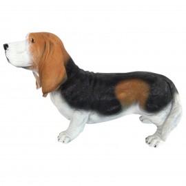 Statue en résine chien basset artésien 55 cm