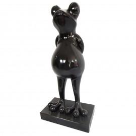 Statue en résine grenouille noire - 65 cm