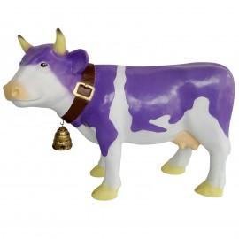 Statue en résine vache multicolore avec cloche 85 cm
