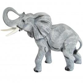 Statue en résine éléphant gris - 60 cm